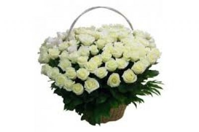 basket white roses4