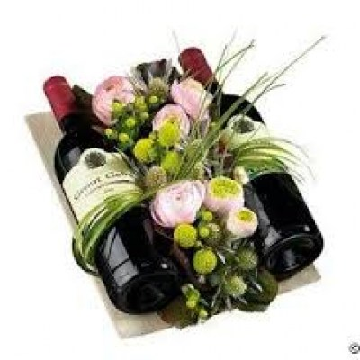 Romantic Flowers Gift Delivery In Madrid In 23hr Wine Gift Set